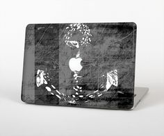 """The Smudged White and Black Anchor Pattern Skin Set for the Apple MacBook Pro 15"""" with Retina Display"""