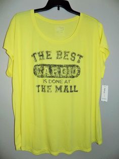 NEW women's plus size 3X yellow t-shirt Style & Co. new with tag #Styleco #Tshirt