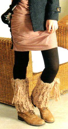 tejidos artesanales: polainas tejidas en crochet