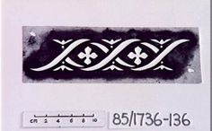 85/1736-136 Paper stencil, frieze of quatrefoils & wave design - Powerhouse Museum Collection