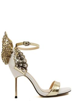 Love these! Stiletto heels with gold wings from ZAFUL.