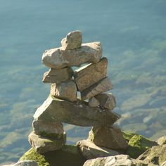 A rock Inukshuk in Vancouver, Canada. Vancouver, Canada, Rock, Crafts, Image, Sculptures, Manualidades, Skirt, Locks