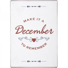 Blechschild December to Remember Place Cards, Place Card Holders, How To Make, Positive Quotes, Wall Clocks, Sheet Metal, Hang In There, Shop Signs