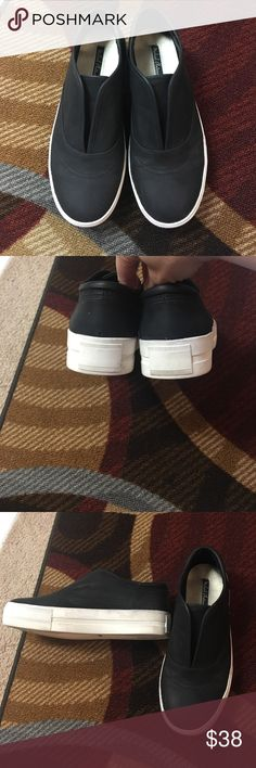 Michael Antonio Platform Sneakers Excellent condition with very minor wear on the bottom. Black upper with white bottoms. no box. Michael Antonio Shoes