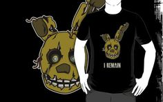 =======Shirt for Sale======= Golden Bonnie Head by Kaiserin ======================= #freddy #fnaf #fnaf2 #fnaf3 #fivenightsatfreddys #foxy #chica #bonnie #securityguy #mangle #logo #goldenfreddy #shadowbonnie #toybonnie #toychica #endoskeleton #toychica #puppet #goldenbonnie