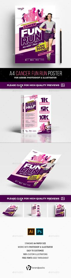 Fun Run K FlyerPoster  File Size Flyer Template And Template