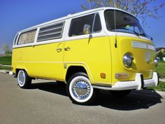 I totally had a dream last night that I had a happy little, yellow VW bus. Could not be more obsessed right now.