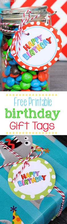 Free Printable Birthday Gift Tags from @Amber Price: Crazy Little Projects
