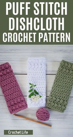 Make this puff stitch dishcloths pattern in under an hour!  This simple free crochet pattern is a perfect crochet dishcloth for your kitchen! #Dishcloths #PuffStitch #CrochetPattern #DishclothPattern #Crocheting #Crochet #CrochetLife Crochet Kitchen, Crochet Home, Crochet Yarn, Crochet Geek, Crochet Scrubbies, Dishcloth Crochet, Crochet Potholders, Puff Stitch Crochet, Form Crochet