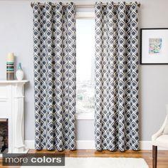 Burma Ikat Grommet Top Curtain Panel