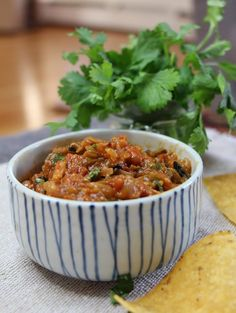 Roasted Mexican Salsa #mexican #dips #vegetarian