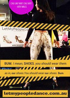 Amy Mills wears LetMyPeopleDance! www.letmypeopledance.com.au