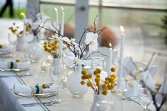 Simple white and yellow decor