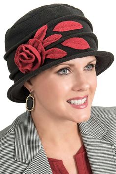 1aa4d369b2b9a3 Warm Winter Hats for Women | ... Leaf Flower Wool Elegant Women's ...
