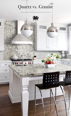 Granite has been a classic look for the kitchen, but did you know that natural quartz is a more durable and resistant alternative? Stain-resistant and scratch-proof, the beauty of a quartz countertop will stand the test of time. Cambria Quartz Countertops, Granite, Vinyl Flooring Kitchen, Kitchen Design, Kitchen Ideas, Kitchen And Bath, Home Remodeling, House Ideas, Interior