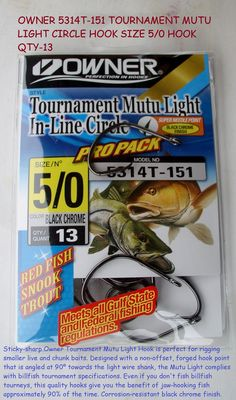 Bass Catfish Fishing Hook 1 Pack Of 10 Size #1 Baitholder Hooks,