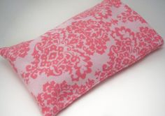 Pink on Pink Damask Flannel  Hot / Cold Pack – Rice Bag Heating Pad with a Removable Washable Cover- Microwave Heat Pack – 7x 4 1/2 inches