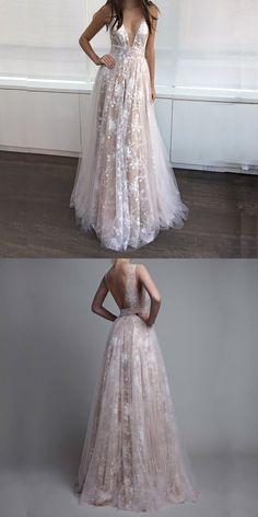 Deep V-Neck Prom Dresses,Long Prom Dresses,Champagne Prom Dresses,Prom Dresses 2017,Cheap Prom Dresses,Plus Size Prom Dresses