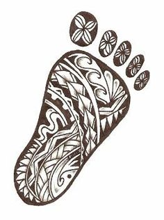baby foot with samoan designs