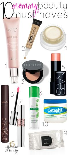 Must have beauty products for every mom! My beauty routine can get cut down to a bare minimum when my girls need my attention, these are my must haves!