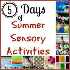 Summer Sensory Activities Series - lots of great ideas!