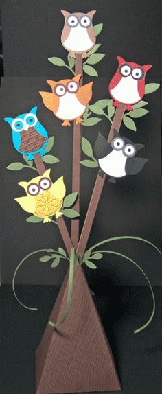 The owls have landed. LOL, cute idea