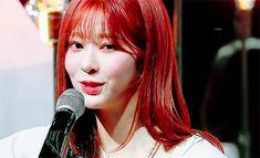 1 Gif, Red Aesthetic, Pretty Face, Idol, Leather Jacket, Random, People, Beautiful, Fashion