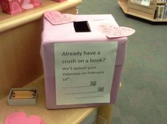 Book Crush, Center where students write a note to a book they have a crush on, secret admirer style. Book writes back as a display?