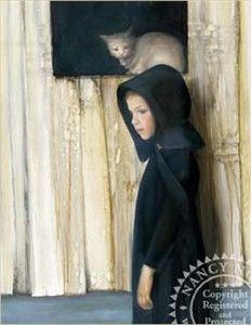 "Nancy Noel Limited Edition Giclee on Paper:""Pensive Cat"" - Amish Amish Culture, Z Arts, Portraits, Process Art, Art For Kids, Art Children, Child Art, State Art, Animal Paintings"