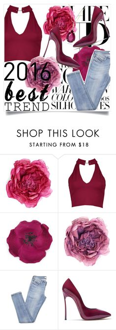 """""""Crop Tops: Best Trend"""" by bella-claire1807 ❤ liked on Polyvore featuring Gucci, Boohoo and Casadei"""