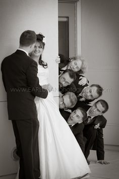 Wedding, Groomsmen, Bride, Groom, Bride and Groom
