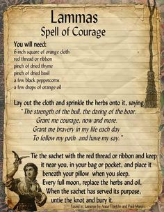 Spell for courage