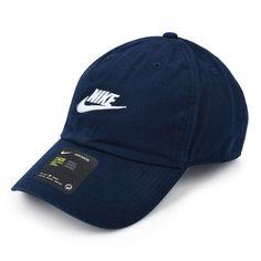 6b691c25b6534 Nike Heritage 86 Tennis Cap Swoosh Logo Hat Navy Racquet Casual Cap 913011- 451 #Nike