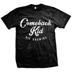 Comeback Kid: Script T-Shirt Zip Hoodie, Crew Neck Sweatshirt, T Shirt, Taking Back Sunday, Band Merch, Tank Girl, Shirt Price, Shirts For Girls, Comebacks