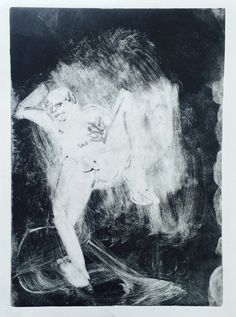 """Holly Froy """"Untitled (vii)"""" Monoprint on paper"""