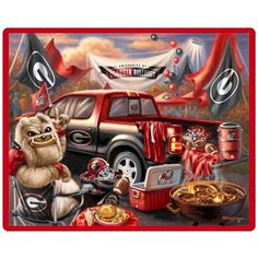 Georgia Bulldogs Tailgate Blanket.. I have one!! :) It looks JUST like this picture!!!