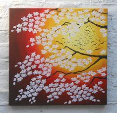Cherry Blossom Migration Original Acrylic Painting
