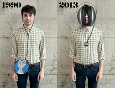 Musicplayer & headphones 1990 / 2013