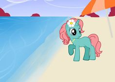 Aloha Breeze- A friendly, sweet, and caring pony. She has a bff named Pineapple Cruise. Created by @claireshultz