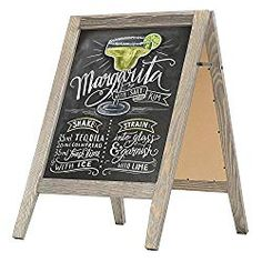 MyGift Rustic Stained Vintaged Wooden Freestanding A-Frame Double-Sided Chalkboard Sidewalk Sign Tailgate Tent, Dark Wood Stain, Thing 1, Resource Room, Framed Chalkboard, Outdoor Wedding Decorations, Wedding Boxes, Wedding Ideas, Table Signs