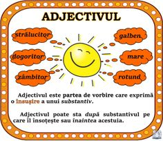 Ce este adjectivul? Romanian Language, Teaching Grammar, School Staff, Truck Design, Summer Activities For Kids, School Lessons, Kids Education, Classroom Decor, Kids And Parenting