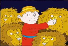 FreeBibleimages :: Daniel keeps praying :: Daniel refuses to stop praying to God, who answers his prayers to deliver him from the lions' den (Daniel Daniel And The Lions, Book Of Daniel, Youth Group Events, Skits For Kids, Youth Lessons, Lion's Den, Bible Images, Praying To God, School Play