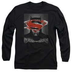 BATMAN VS SUPERMAN/BATMAN POSTER-L/S ADULT 18/1-BLACK
