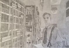 Ok then, here it is. The man, the hero, the actor, The Imitation Game. @tigmovie #turing #BenedictCumberbatch #art z