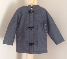 Boys CRAZY 8 Coat 4T Charcoal Gray Toggle-Button Zipper Long Sleeve Solid Wool $31.88 #Crazy8 #Coat
