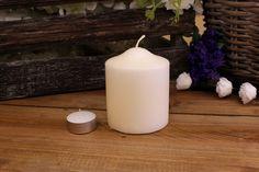 Κεριά Κυλινδρικά Εκρού Φ8x10εκ Pillar Candles, Taper Candles