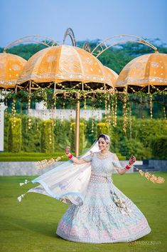 A Beautiful Sikh Wedding In Chandigarh With Couple In Pastel Wedding Outfits Sikh Bride, Punjabi Bride, Sikh Wedding, Wedding Attire, Bride Groom, Wedding Outfits, Engagement Hairstyles, Cocktail Night, Blue Lehenga