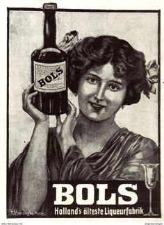 Original-Werbung/ Anzeige 1907 - BOLS LIQUEUR - Ca. 75 X 100 Mm - Werbung