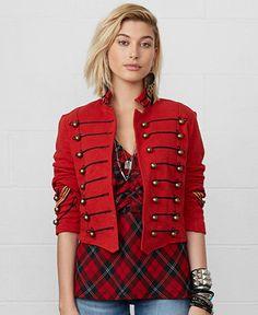 Denim & Supply Ralph Lauren Cropped Military Jacket - Jackets & Blazers - Women - Macy's