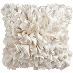 Flounce Pillow - Ivory  -  LOVE the flounce pillows from Pier 1!  They are big and full of ruffles!  Come in many colors to go with any color scheme!